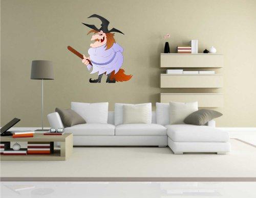 Indigos KAR-Wall-WITCH-012-60 Wandtattoo Witch - Hexe 12 - Halloween - Wandaufkleber 60 x 63 cm
