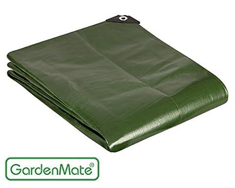 GardenMate® 1,5mx6m Bâche de protection en PP/PE rectangulaire vert 200g/m²