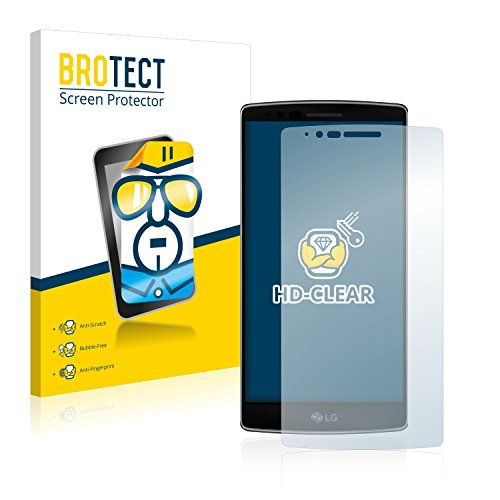 2x BROTECT Displayschutzfolie LG G Flex 2 Schutzfolie Folie - Klar, Anti-Fingerprint