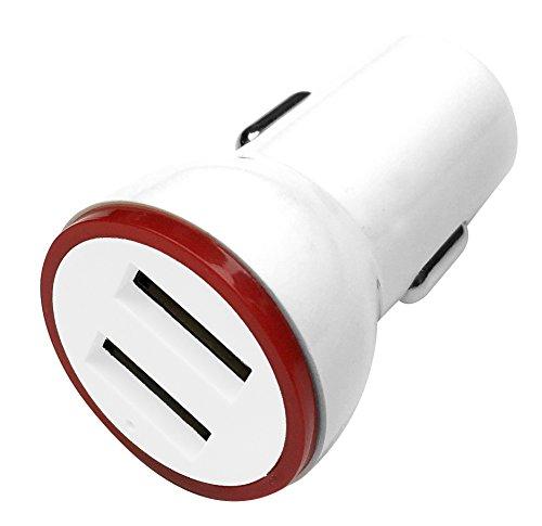 Qualitäts- USB- Autoladegerät - Autonetzteil Netzgerät Netzstecker Ladegerät Ladekabel Ladeteil Carcharger für Auto PKW KfZ Fahrzeug weiß - TheVery
