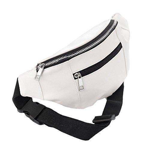 bum-bag-fanny-pack-faux-leather-festival-pu-bumbag-clubbing-gigs-white-pu-bum-bag