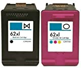 Printing Pleasure 2 XL Druckerpatronen für HP Envy 5540 5640 5642 5643 5644 5646 5660 7600 Series 7640 7645 Officejet 5740 5742 5744 5745 5746 8040 8045 | kompatibel zu HP 62XL (C2P05AE & C2P07AE)