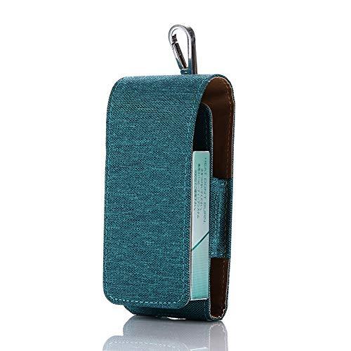 Yeleo Trosetry Denim Zigaretten Box Behälter Portable Zigarettenschachtel Hülle case für E-Zigaretten iQOS(Denim Grün)
