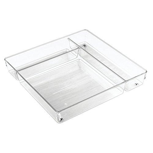 InterDesign Linus Organizer für Küchenschubladen für Kochutensilien, Besteck - Groß, Durchsichtig