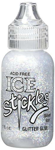 Silver Ice Ice Stickles Glitter Glue 1 Ounce ISG-11866