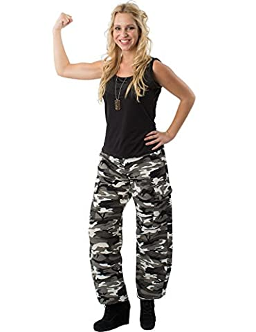 Costumes Ladies Fancy Dress - Ladies Arctic Camouflage Army Soldier Girl Fancy