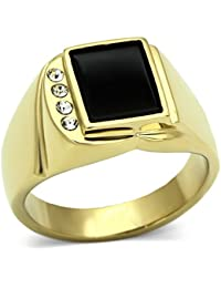 ISADY - Dario - Men's Ring - Cubic Zirconia - Email Black