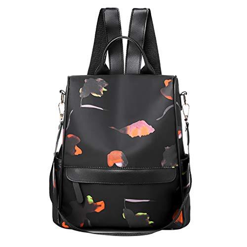 Dorical Damenhandtaschen Mädchen Frauen Rucksack Tasche, Student PU Leder Backpack Handtasche Anti Diebstahl Nylon Schulrucksack Umhängetasche, fit Hochzeit, Party, Reisen, shopping(S)