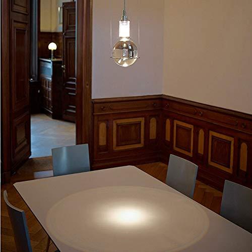 Led Pendelleuchte Moderne Esszimmer Küche Hängeleuchte Runde Kugel Design Kronleuchter Restaurant Schlafzimmer Nacht Wohnzimmer Lampe Suspension Beleuchtung Decke Dekoration G4 1 Licht,Chrome -