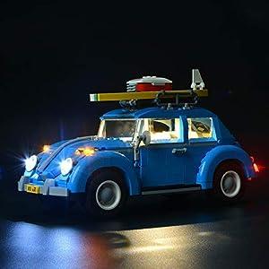 BRIKSMAX Maggiolino VW Kit di Illuminazione a LED- Compatibile con Il Modello Lego 10252 Mattoncini da Costruzioni - Non… 0753318439900 LEGO