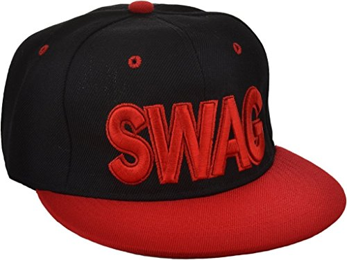 Black/Red Swag Hip Hop Snapback Cap  available at amazon for Rs.225