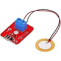 fgyhtyjuu Sensor de vibración piezoeléctrico del Sensor de vibración de cerámica analógico para piezoelectricidad Junta de Desarrollo ARDUINO
