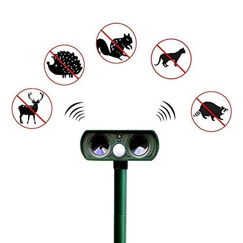 ZXCV Garden Solar Ultrasonic Drive Pest Tier Vogel Katze Hund Fuchs Repeller Repellent Garden Pest Control,Green - Garden Pest-repeller