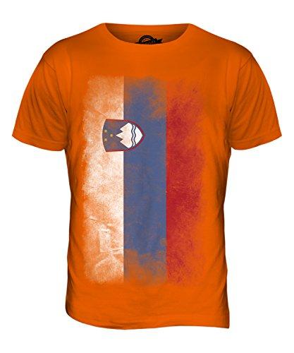 CandyMix Slowenien Verblichen Flagge Herren T Shirt Orange