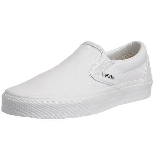 Vans classic slip-on canvas, sneaker unisex - adulto, bianco (white shoe white sole), 36.5 eu (4 uk)