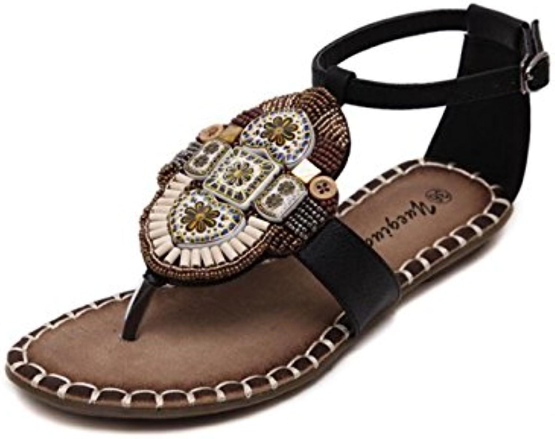 14314ea9b5747d DANDANJIE Women s Women s Women s Shoes Spring Summer Fashion Sandals  Bohemian Style Open Toe Buckle for Dress