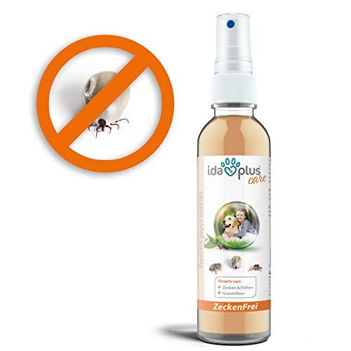 Ida Plus - Zeckenfrei 200 ml - Zeckenspray gegen Zecken, Mücken, Flöhen, Grasmilben & Parasiten - Zeckenmittel für Hunde - Anti Zecken Insektenspray mit Geraniol & Nelkenblätteröl zum Insektenschutz