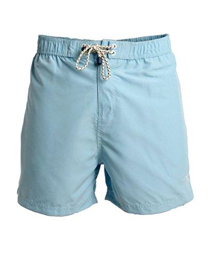 Herren Schwimmen Shorts von Smith Jones 'Tide' Voll Netz Gefüttert (Himmel) XL (Shorts Quiksilver-gefütterte)