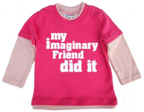 Dirty Fingers Dirty Fingers, My Imaginary Friend did it, Baby Skater Top, Hot rosa, 12/18m