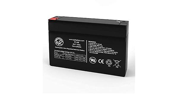 Batterie Panasonic LCR6V13P 6V 1.3Ah Acide scell/é de Plomb Ce Produit est Un Article de Remplacement de la Marque AJC/®