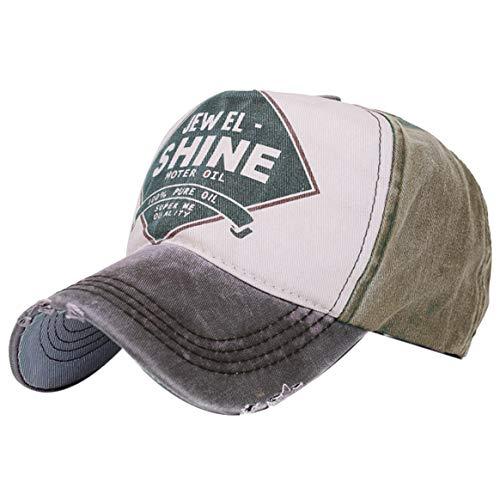 Vintage Cap (Belsen Damen Vintage Baseball Cap Snapback Trucker Hat, Dunkelgrau, Einheitsgröße)