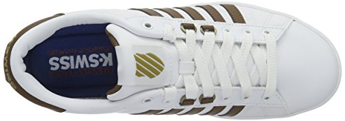 K-Swiss HOKE EQ CMF, Sneakers basses homme Blanc (White/Bison/Toffee Gum 122)