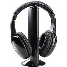 L-Link LL-10758 - Auricular con microfono inalambrico, color negro