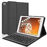 iPad Mini 5 Keyboard Case 2019,Boriyuan Folio PU Stander Smart Cover,With Detachable Wireless