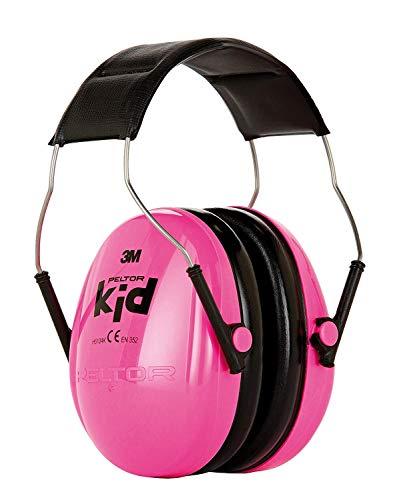 3M Peltor Kid Kapselgehörschutz, Neon-rosa, Kinder Gehörschutz für Mädchen, mit verstellbarem Kopfbügel für Lärm bis 98dB - SNR 27