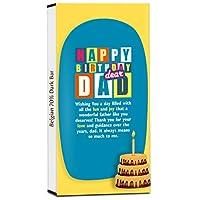 Chocholik Birthday Day Gift – Happy Birthday to The Wonderful Father 70% Dark Belgium Chocolate Bar - 100gm (3.5Oz)