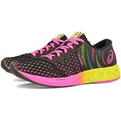 Asics Noosa FF 2, Zapatillas de Running para Mujer, Negro (Black/Hot Pink 001), 37 EU