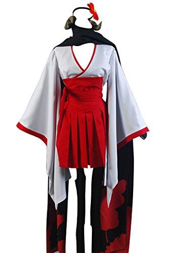 Fuman Inu x Boku SS Shirakiin Ririchiyo youkai Mädchen Uniform Connichi Cosplay Kostüm (Ririchiyo Kostüm Shirakiin)