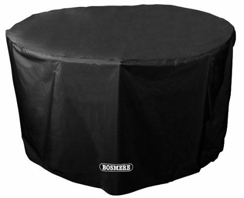 bosmere-d540-storm-black-4-seat-circular-table-cover