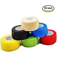 FOU Haftbandage Cohesive Bandage Multicolor 12 Rolls 2.5cm*4.5m Selbsthaftende Bandage Medizinische Klebeverband... preisvergleich bei billige-tabletten.eu