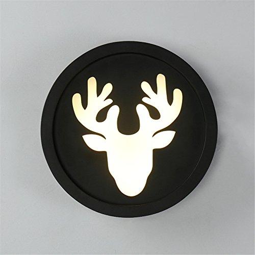 Liyan minimalistische Wandleuchte Wandleuchte E26/27Base LED CIRCULAR Deer Head Wandleuchte Antik Weißes Licht