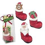 Gunthart Marzipan Santa Boots in Cellophane Bag