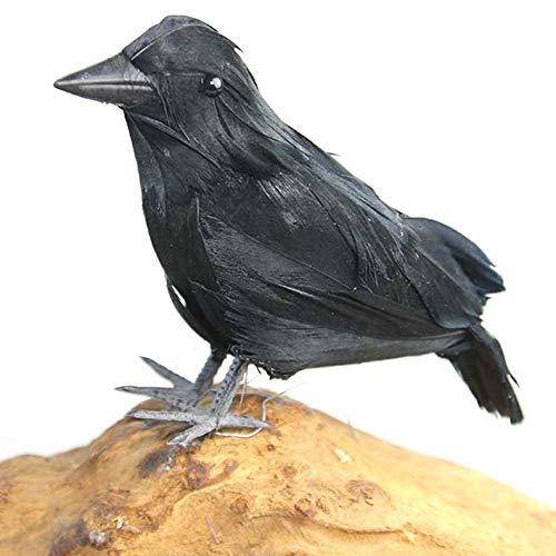 (Bulary simulierte Krähenrequisiten lebensechter Vogel Halloween Dekoration Farm Garden Vogelschutzmittel Ornamente)