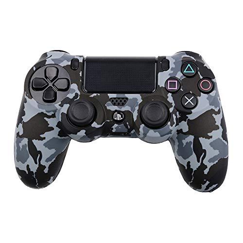 THTB Playstation 4 Silikonhülle grau Camouflage /PS4 -