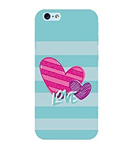 FUSON Valentine'S Day Love Card 3D Hard Polycarbonate Designer Back Case Cover for Apple iPhone 6S