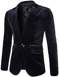 4b35b797877 Manteau Homme Fashion Casual en Velours CôTelé Pur Seul Bouton Velours  CôTelé Veste ...