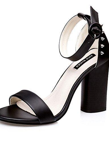 WSS 2016 Chaussures Femme-Décontracté-Noir / Vert / Rose / Gris-Gros Talon-Talons-Talons-Polyuréthane gray-us5 / eu35 / uk3 / cn34