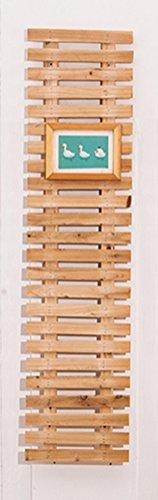 QFF Anticorrosion carbonisée Mur en bois massif Mur décoratif suspendu Jardin fleuri Jardin Terrasse Fleur Stand Riding Stand en rotin ( Couleur : Couleur du bois , taille : 120*30cm )