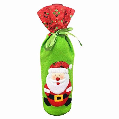 serliy Weinflasche Cover Bags Dekoration Home Party Weihnachtsmann Weihnachten