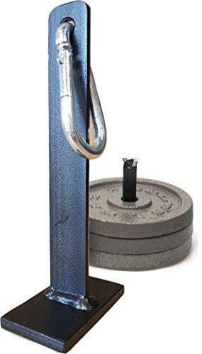 Bodenanker für Doppelendball und Boxsäcke | Einfach mit Hantelscheiben beschweren | Bodenanker ohne zu Bohren