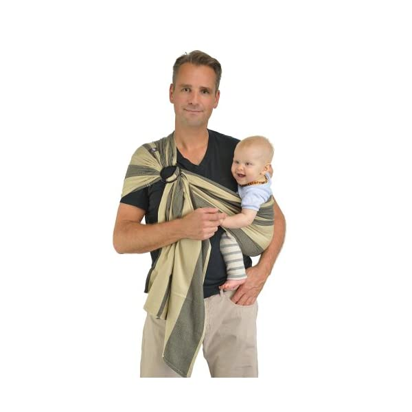 Hoppediz Osaka Ring Sling Hoppediz Suitable from birth until parent or child chooses to stop carrying 100% Cotton Special broken twill weave 2