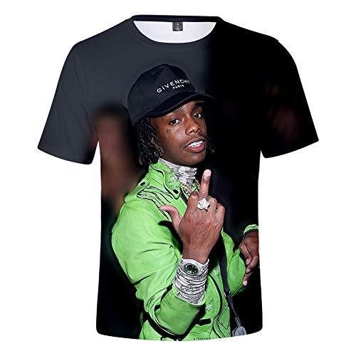 MR.YATCLS YNW Melly Rock-Hip-Hop-T-Shirt, Sommer-Polyester-T-Shirt, 3D-bedrucktes, Kurzärmliges T-Shirt, Unisex-T-Shirt, ()
