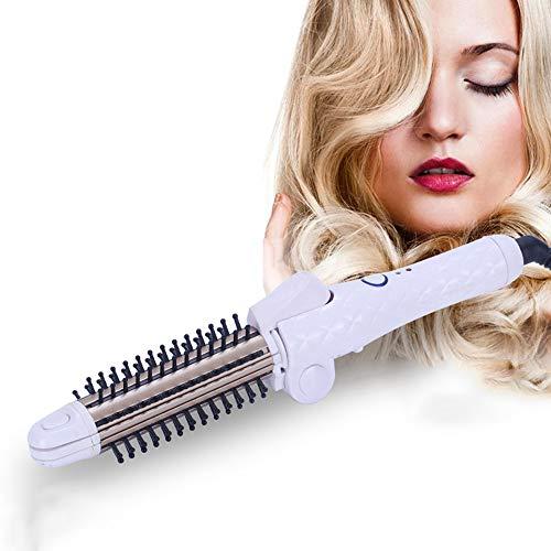 Beauty ZQ Tragbare Faltbare Haare kämmen Vier-in-Eins-Schnalle Artefakt großes Volumen gerade Haare Mais heißes Sperrholz Lockenstab gerade Haare Dual-Use-Friseur-Tools