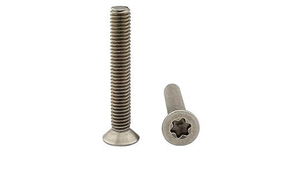 Senkkopfschrauben mit TORX DIN 965 A2 Edelstahl SCHWARZ M5X10 bis M5X25