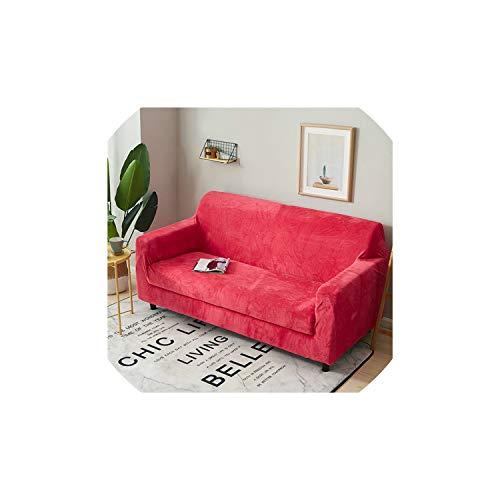 Womens Küste Abdeckung (Black-Sky Solid Color Plüsch verdicken Elastic Sofa Cover Universal Sectional Slipcover 1/2/3/4 Sitzer Stretch Couch Abdeckung für Wohnzimmer, Farb 15,45-45cm Pillowcase-2)