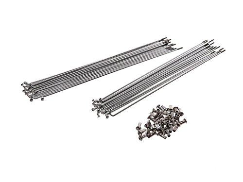 FEZ Set: Speichen mit Nippel (18 x 246mm + 18 x 260mm) M3 in Chrom - 22 Zoll Felge für Hinterrad - für Simson SR1 (22 Felgen Chrom)